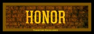 Did you know honor is mentioned 147 times in the Bible?